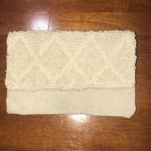 Merona clutch, used once, cream colored